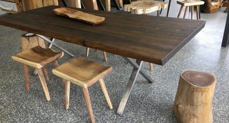 Table en cèdre blanc huilé